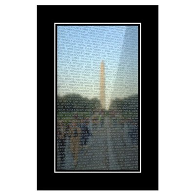 Washington Monument in Vietnam Wall Poster