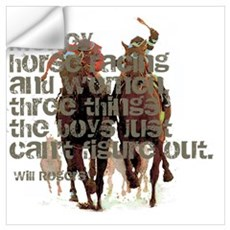 Will Rogers Horse Racing Quot Wall Decal