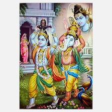 Ganesh and Krishna