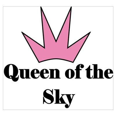Queen of the Sky (pink) Poster