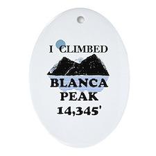 Blanca Peak Ornament (Oval)