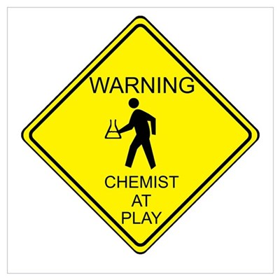 Chemist at Play Poster