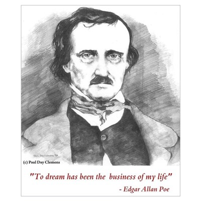 Edgar Allan Poe Print Poster