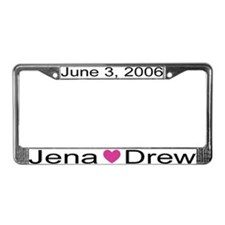 Marriage License Plate Frame