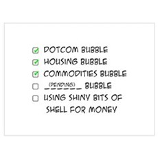 Bubble Economics Framed Print