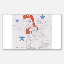 Cute Red head princess Decal