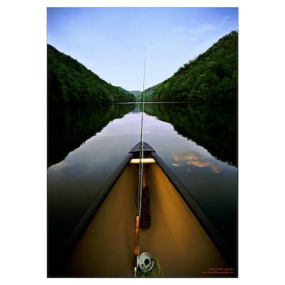 Canoe Fishing Poster