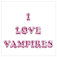 I Love Vampires - Pink Poster