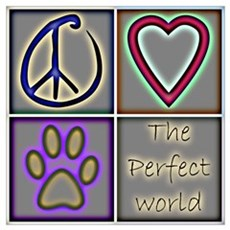 Perfect World: Dogs (ALT) Framed Print