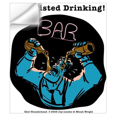 Two-fisted Drinking Wall Decal