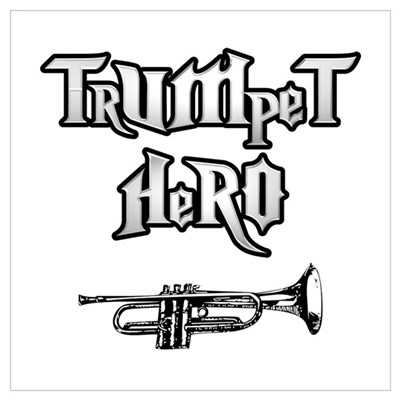 Trumpet Hero Framed Print