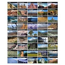 National Park & Monument Poster