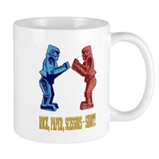 Rock'em Sock'em Paper Scissor Mug