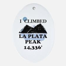 La Plata Peak Ornament (Oval)
