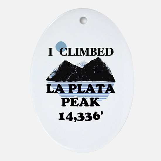 La Plata Peak Ornament (Oval)