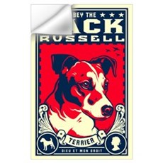Obey the Jack Russell! Wall Decal