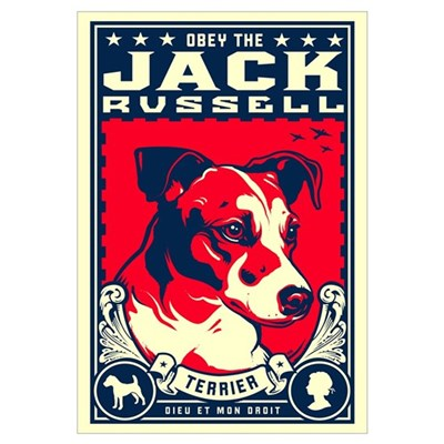 Obey the Jack Russell! Framed Print