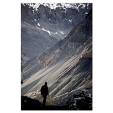 Man and Mountain Poster
