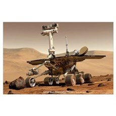 "35"" x 23"" NASA JPL Mars Rover Poster"