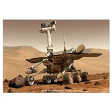 "35"" x 23"" NASA JPL Mars Rover"