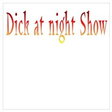 The Dick at Night Show! Framed Print