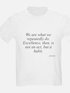 Aristotle quote 104 Kids T-Shirt