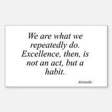 Aristotle quote 104 Rectangle Decal