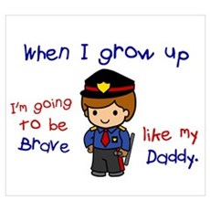 Brave Like My Daddy 1 (Police Officer) Framed Pane Poster