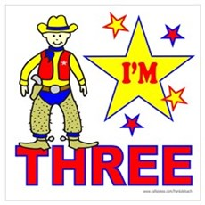 I'M THREE Poster