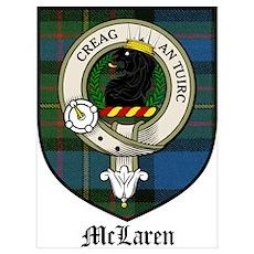 McLaren Clan Crest Tartan Poster