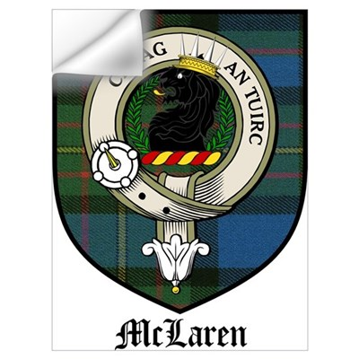 McLaren Clan Crest Tartan Wall Decal
