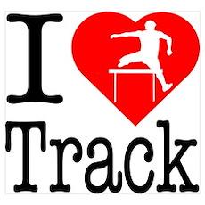 I Love Track Poster