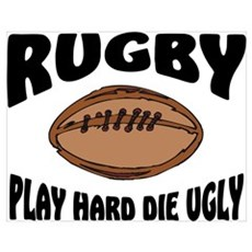 Funny Rugby Poster