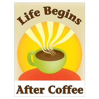 Life begins after coffee Canvas Art