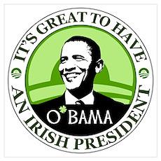 Obama St. Patricks Day Poster