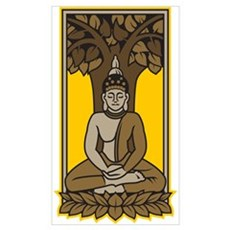 Buddha Under Bodhi Tree Poster