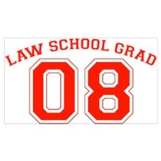 Law School Grad 08 (Red) Poster
