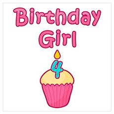 Cupcake Birthday Girl 4 Poster