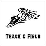 Track and field Wrapped Canvas Art
