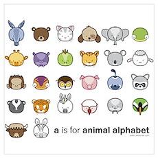 """Animal Alphabet"" Poster"
