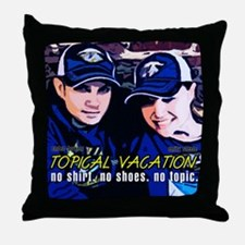 Topical Vacation Throw Pillow