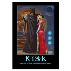Risk motivational Framed Print