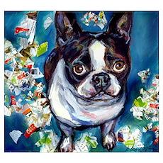 Boston Terrier shredder misch Poster
