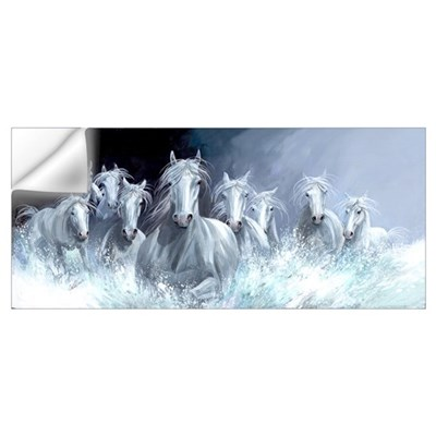 White Horses Free Spirits Wall Decal