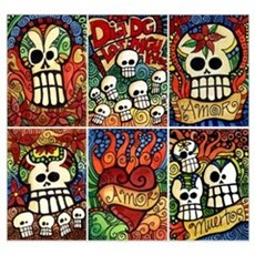 Day of the Dead Sugar Skulls Poster