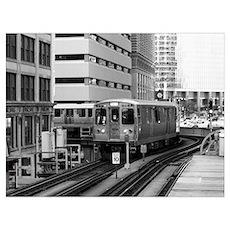Chicago - EL Train Poster