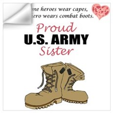 Proud US Army Sister Wall Decal