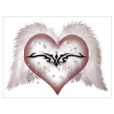 AngelWings Heart Framed Print
