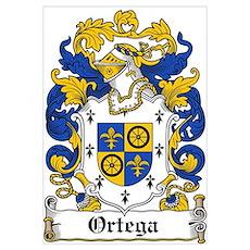Ortega Family Crest Poster