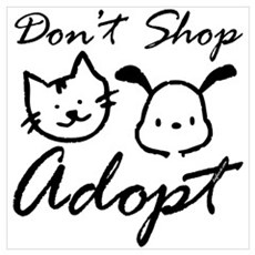 Don't Shop, Adopt Framed Print